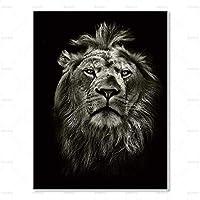XKHSD 動物の壁アートキャンバス絵画虎ライオン鹿ポスターとプリントHD壁写真用リビングルームホームデコレーションなしフレーム