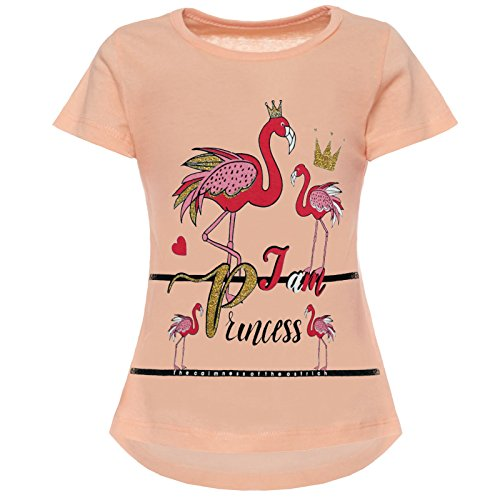 BEZLIT Mädchen T-Shirt Kurzarm Strech 21845 Lachs Größe 104
