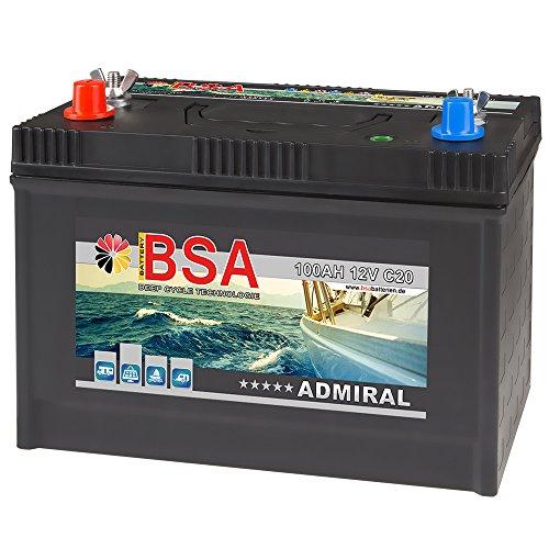 BSA Bootsbatterie 12V 100Ah Batterie Boot Schiff Rangierhilfe Versorgungsbatterie