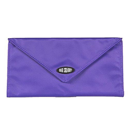 Big Skinny Women's Slimvelope Tri-Fold Checkbook, Holds Up to 40 Cards, Purple