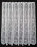 Cortina de media altura cortina romana deja Ranke altura 120 cm   Ancho de la cortina seleccionable por la cantidad comprada en pasos de 14,5 cm   Color: blanco   Cortinas cocina