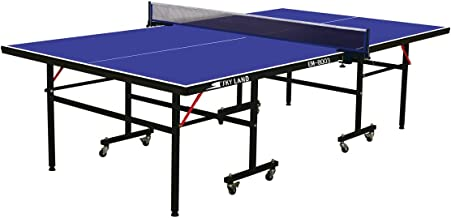 Skyland Em-8003 Single Folding Movable Tennis Table, Blue