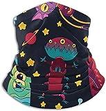 hgbygvuy Fun Alien UFO Scarf Neck Warmer Soft Microfiber Headwear
