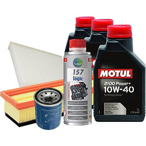 Tecno Filtri KIT-30X/1MO Kit Tagliando con olio motore sintetico Motul 2100 Power+ 10W40 e Tunap 957 per la pulizia del circuito di lubrificazione prima del cambio dell'olio (Da 09/2011)