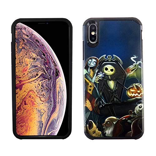 iPhone Xs MAX 6.5 Inch Dual Slim Case CASEVEREST 3D Print Cover iPhone Xs MAX Nightmare Before Christmas PC +TPU