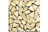 wodewa Leña decorativa 3D para pared de chimenea, troncos de madera, 50 x 50 cm