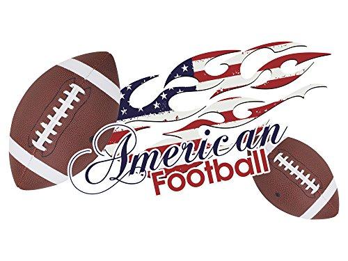 GRAZDesign American Football Wandtattoo Wandsticker Sticker Aufkleber für Wohnzimmer Spruch Crew USA (56x30cm)