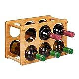 Relaxdays Botellero para 6 Botellas, Soporte Vino para Cocina, Sótano o Salón,...
