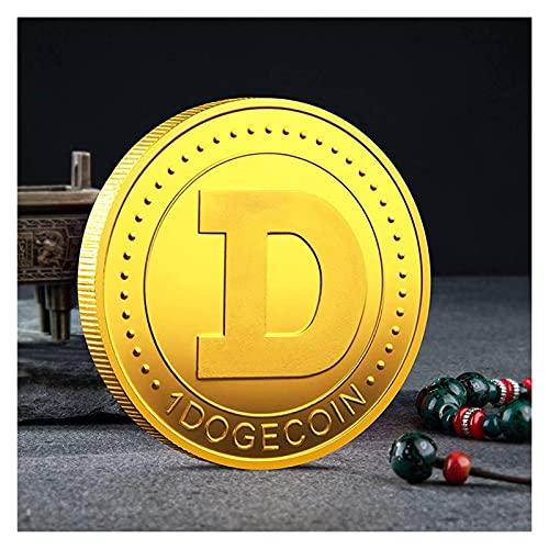 DIMOA Dogecoin Coin Conmemorative Chapado en Oro CRYPTOCURENCE Moneda Virtual Edición Limitada Moneda de colección con Estuche Protector (2pcs) (Color : Gold)