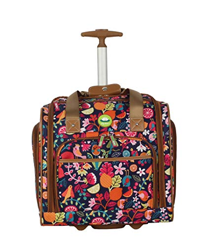 Lily Bloom Designer 15 Inch Carry On - Weekender Overnight Business Travel Luggage - Lightweight 2- Spinner Wheels Suitcase - Under Seat Rolling Bag for Women (One Size, Fruit Loops)