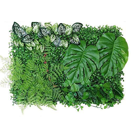 aniceday 4060CM planta artificial UV protegido panel de setos de privacidad valla de la pantalla para jardín al aire libre patio trasero