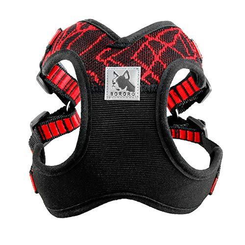 YXDZ Arnés Deportivo para Perros Reflectantes para Perros medianos Grandes Pitbull Bulldog Entrenamiento para Perros al Aire Libre Arneses para Caminar Chaleco de Seguridad