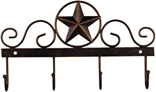 EBEI Metal Barn Star Key Rack Holder Wall Mounted Metal Decorative 10