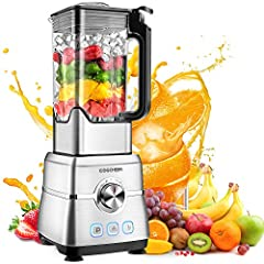 【Ultra High-Speed Blender】The smoothie maker blender working faster and smoother for the 1800W power. The 6 blades in stainless steel break cell walls of food easily, releasing more nutrition in seconds. This one blender acts as a juicer, nuts and co...
