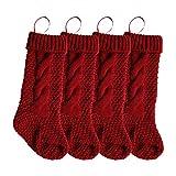 Vacaciones de Navidad Medias Tejidas Colgante Crochet Stock Árbol Adorno Decoración Hogar y jardín Decoración del hogar