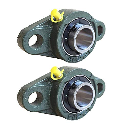 Pillow Block Bearing, Pillow Block Bearing 1 inch Bearing Steel hickened Mounted Self Aligning Rhombic Bearing 25.4mm/30mm(UCFL205-16)