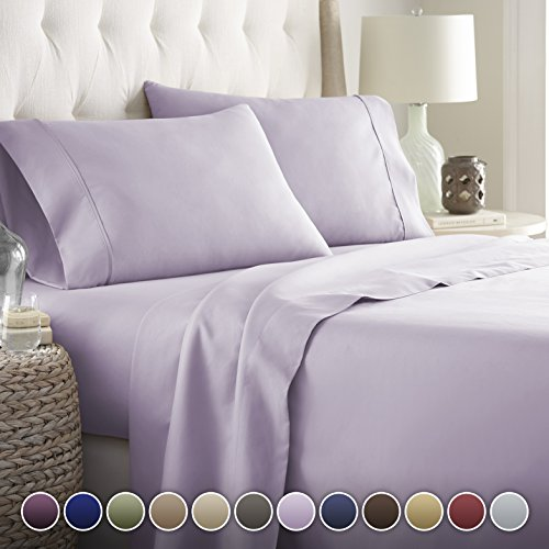 Hotel Luxury Bed Sheets Set Today! On Amazon Softest Bedding 1800 Series Platinum Collection-100%!Deep Pocket,Wrinkle & Fade Resistant (Twin, Lavender