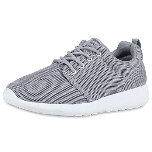 SCARPE VITA Damen Sportschuhe Trendfarben Runners Sneakers Laufschuhe 160472 Hellgrau 39