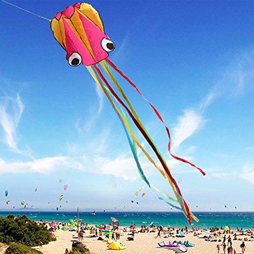 GGG 4M Ligne simple Stunt multi-couleurs Jeu de Plein Air cerf-volants Prêt à voler Outdoor Sport Jouets Nouveau - Rose jaune