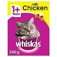 [Whiskas ] 鶏の340グラムとウィスカス1+猫完全ドライ - Whiskas 1+ Cat Complete Dry with Chicken 340g [並行輸入品]