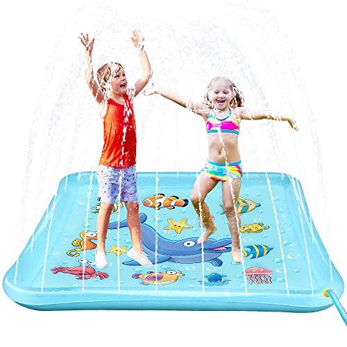 Epoch Air Sprinkler Pad & Splash Play Mat, 67' Outdoor Water Toddler Toys Summer Fun Game, Perfect Inflatable Outdoor Toys Sprinkler for Kids Boys Girls