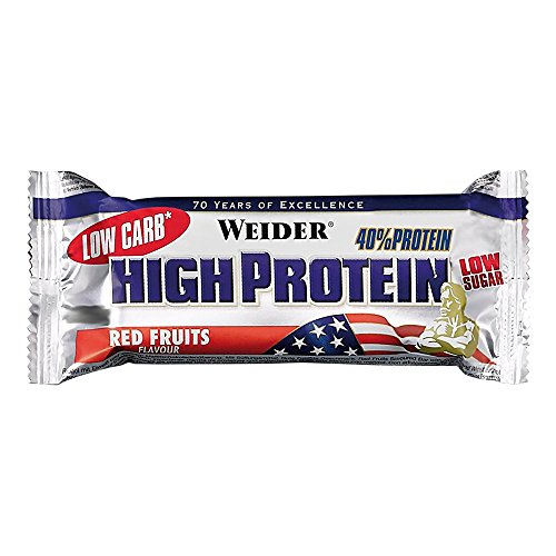 Weider 40% High Protein Low Carb Latte Macchiato Riegel – 50 Gramm (3.38 EUR/100g)