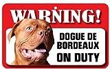 Dogue de bordeaux Dog Pet Sign–laminato di