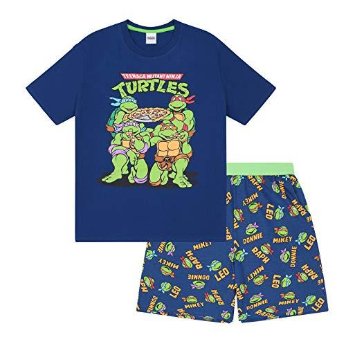 Teenage Mutant Ninja Turtles - Herren Schlafanzug - kurz - Retro-Design - offizielles Merchandise - Geschenk - S