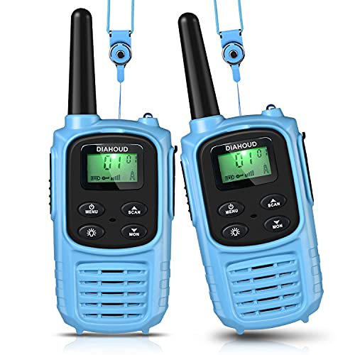 DIAHOUD Walkie Talkies für Kinder 8 Kanal Funkgerät mit Hintergrundbeleuchteter LCD-Taschenlampe Walki Talki Kinder Spielzeug 2X Funkgeräte Set