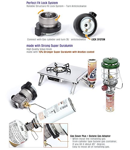 G-WORKS Valve Type  Two Way Gas Adapter of Various Lengths and Options