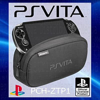 OFFICIAL Sony Playstation PS Vita Soft Travel Pouch Carry Case Bag - WITH DUAL STORAGE COMPARTMENTS FOR PERIPHERALS + MEMORY CARD SLOTS - PCH-ZTP1 [OEM Packed]