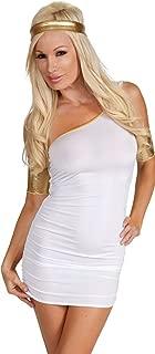 Womens Sexy Heroine Costume Greek Toga Mini Dress
