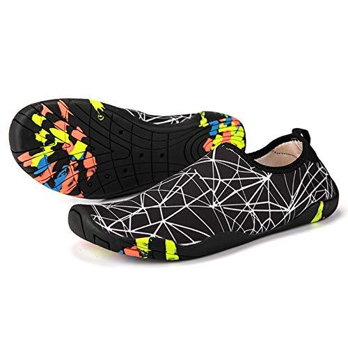 Hotroad Scarpe da Acqua Leggere a Piedi Nudi Sandali da Spiaggia Slip-on per Donne, Uomini e Bambini River Camping Turismo Surf Scarpe da Sub Pantofola-201-Bianco 40