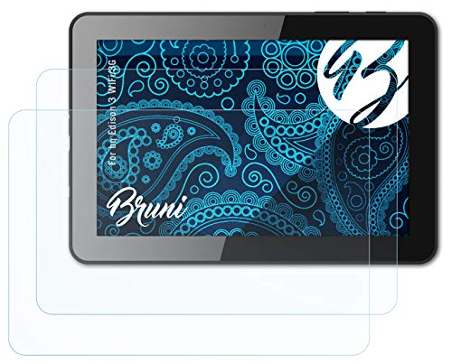 Bruni Schutzfolie kompatibel mit bq Edison 3 WiFi/3G Folie, glasklare Bildschirmschutzfolie (2X)