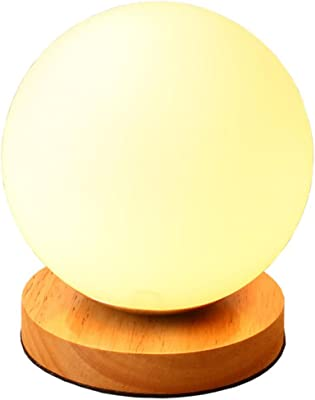 AINIOO Solid Wood Desk lamp, Eye-Caring Table Lamps Led Simple Energy-Efficient