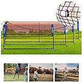 Set De Red Portátil De Bádminton para Tenis,Altura Estándar Internacional 1,55 M, con Bolsa De Transporte Y Accesorios para Juegos Deportivos Familiares Al Aire Libre,3.1m