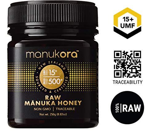 Manukora UMF 16+/MGO 600+ Raw Manuka Honey (250g/8.8oz) Authentic Non-GMO New Zealand Honey, UMF & MGO Certified, Traceable from Hive to Hand