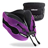 Cabeau Evolution Cool Travel Pillow- The Best Air Circulating Head Neck Memory Foam Cooling Travel Pillow - Purple…