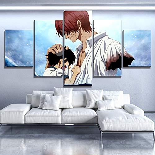 Canvas schilderij op doek Wall Art HD Print 5 One Piece Home Decor Modulaire afbeelding voor Kids Room Artwork Poster L-30x40 30x60 30x80cm Frameloos.
