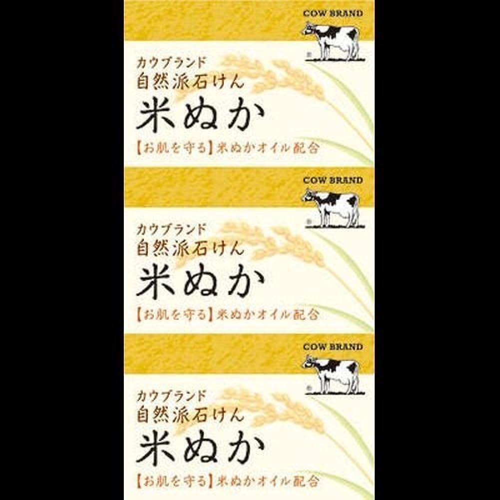 低下切断するその【まとめ買い】カウブランド 自然派石けん 米ぬか 100g*3個 ×2セット