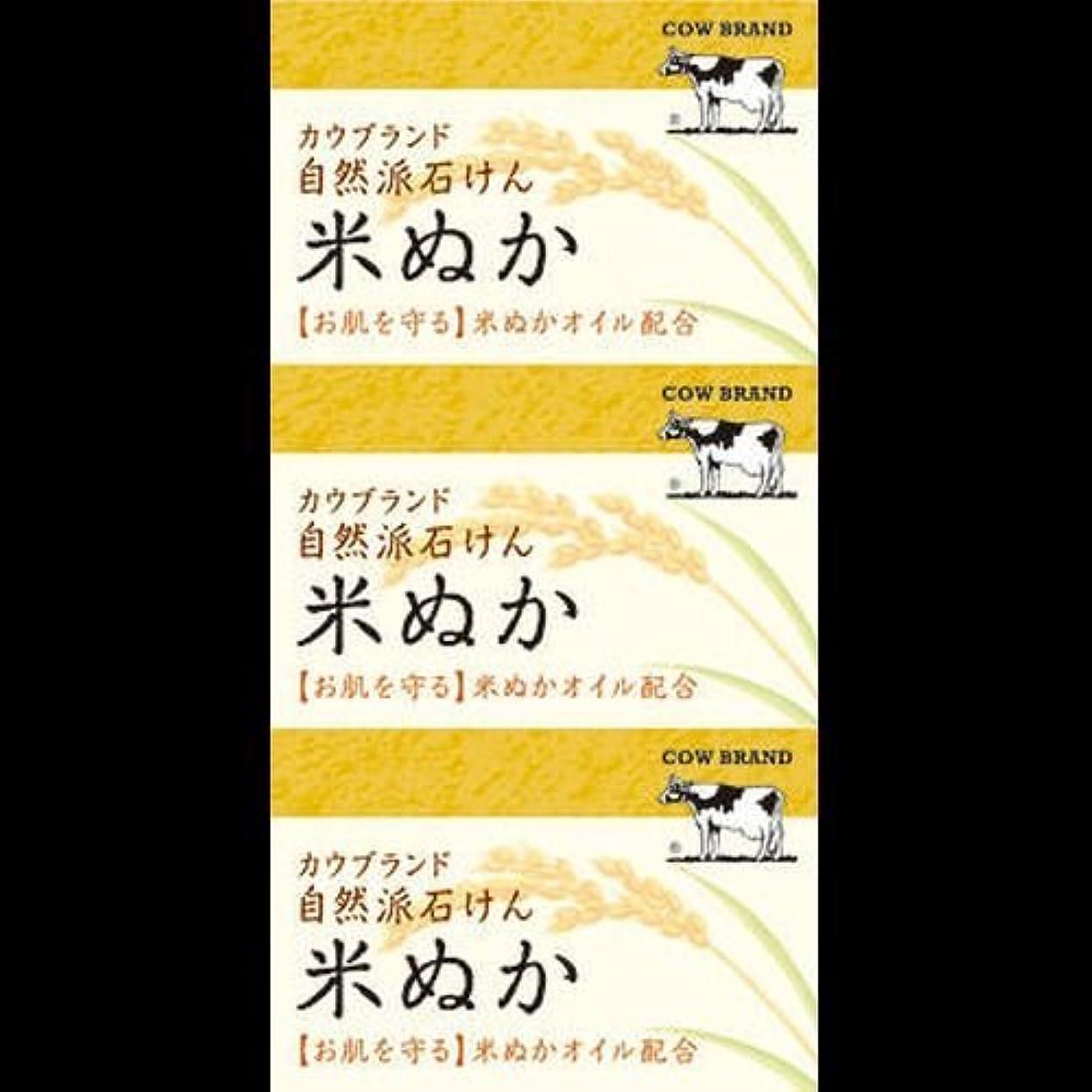 アトム比喩タービン【まとめ買い】カウブランド 自然派石けん 米ぬか 100g*3個 ×2セット