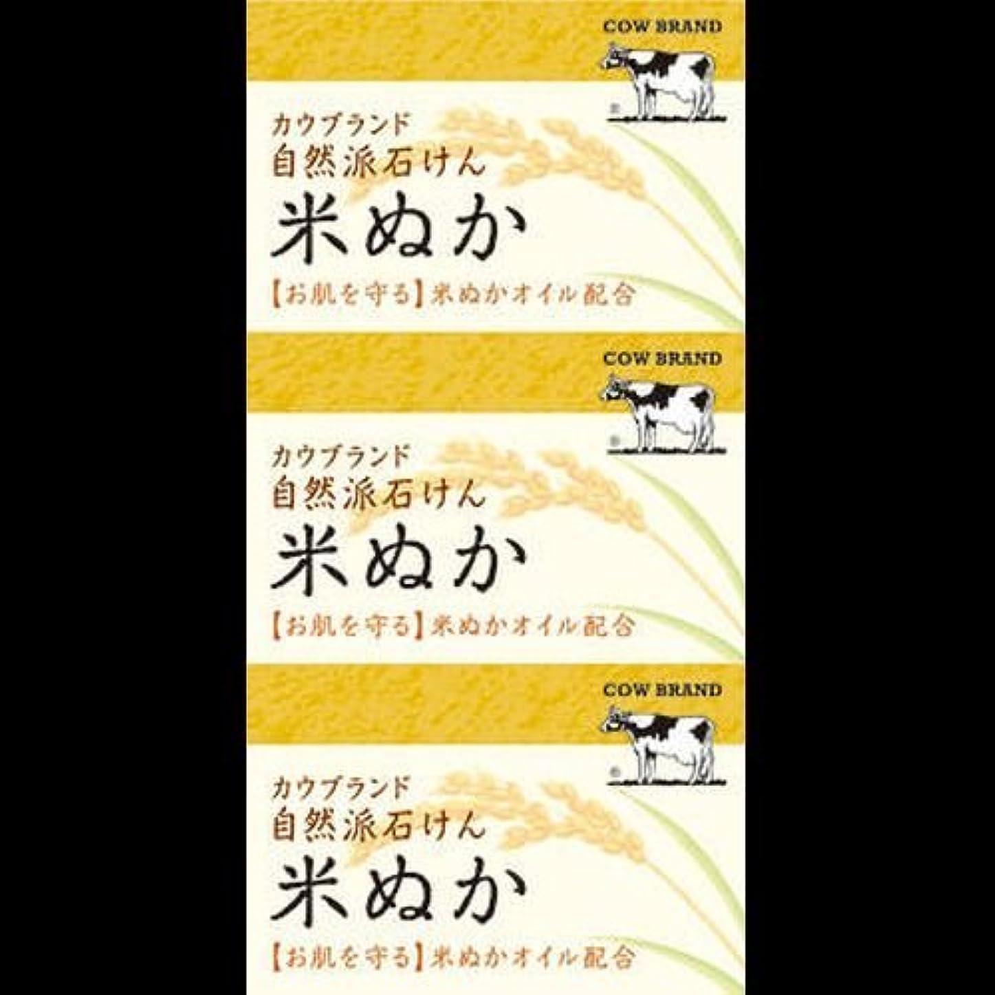 実現可能性夜明け構造【まとめ買い】カウブランド 自然派石けん 米ぬか 100g*3個 ×2セット