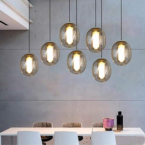 Xiadsk Lampe de Chevet en Verre Salle à Manger Salon Chambre Simple éclairage décoratif ingénierie Lampes LED Grande fumée gris