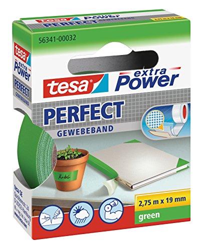 tesa® extra Power Gewebeband grün, Länge 2,75 m, Breite 19 mm