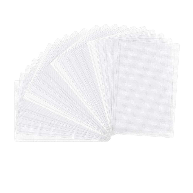 Tyoyoo カード保護ケース 20枚入 カード入れ クリアネームカード 名札ホルダーケース 薄型 横挿入 ICカード 防磁保護 読取エラー防止