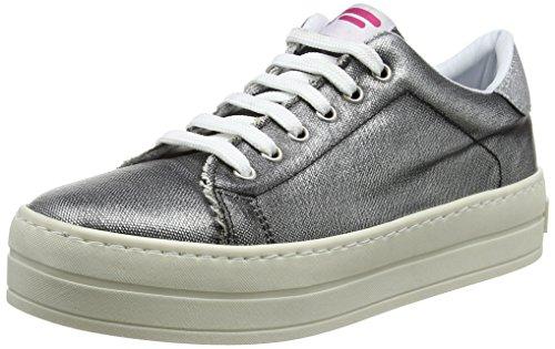 Fornarina Damen Maxi Sneaker, Nero Black 5r0, 39 EU