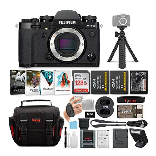 Best Review Of Fujifilm X-T3 Mirrorless Digital Camera Body (Black) Essential Accessory Bundle