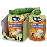 Hero Baby Mi Merienda - Bolsita de Yogurín Multifruta sabor Bizcocho, Sin Azúcares Añadidos, para Bebés a Partir de los 12 Meses - Pack de 18 x 100 g