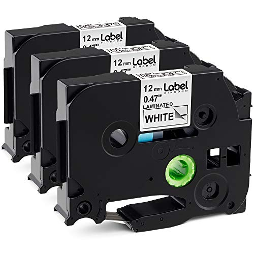 Label KINGDOM Compatible Labels Replacement for TZe-231 TZ-231 P-Touch Label Tape for PT-D210 PT-H110 PT-H100 Label Maker, 12mm 0.47 Inch Laminated Black on White)