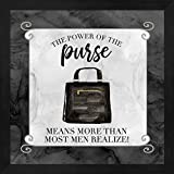 Fashion Humor VI-Power of The Purse by Tara Reed Framed Art Print Wall Picture, Deep Black Frame, 13 x 13 inches